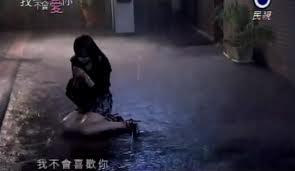 Ruby alone in the rain