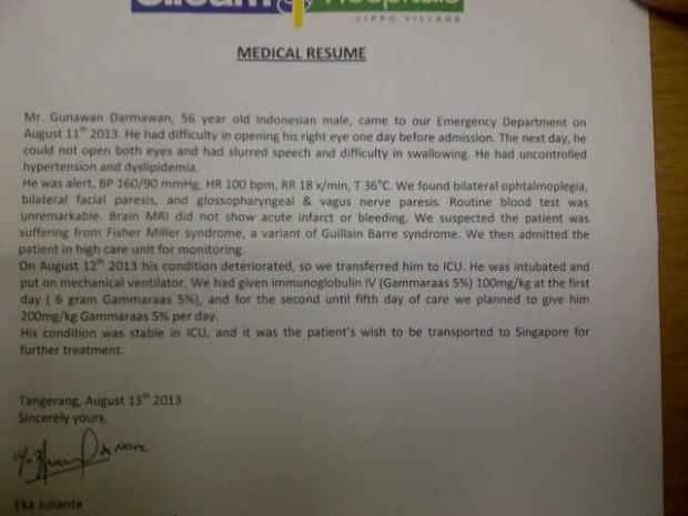Medical resume dari Indo